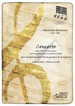Alexander Glazounov - Eb Concerto, Opus 109-b - Partition - di-arezzo.co.uk