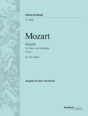 Wolfgang Amadeus Mozart - Konzert Nr. 1 D-Dur KV 412 / 514 (386b) - Partition - di-arezzo.fr