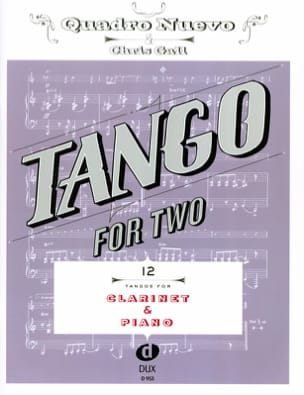 - Tango For Two - Clarinette & Piano - Partition - di-arezzo.fr