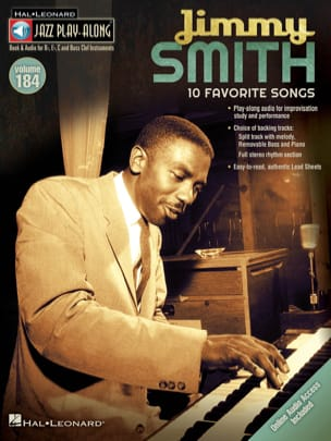 Jazz Play-Along Volume 184 Jimmy Smith - laflutedepan.com