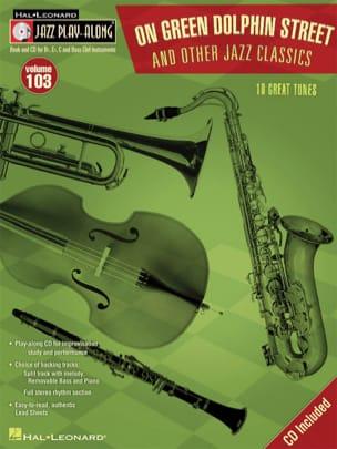 Jazz Play-Along Volume 103 - On Green Dolphin Street & Other Jazz Classics - laflutedepan.com