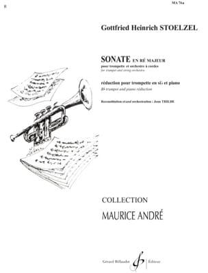 Gottfried H Stölzel - Sonate en Ré Majeur - Partition - di-arezzo.fr