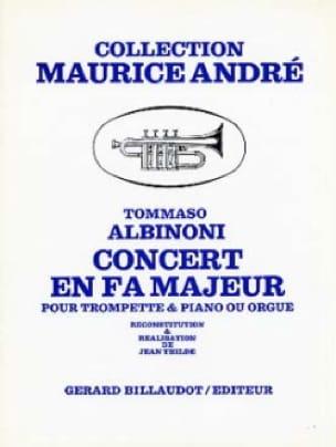 Tomaso Albinoni - Concert In F Major - Partition - di-arezzo.com