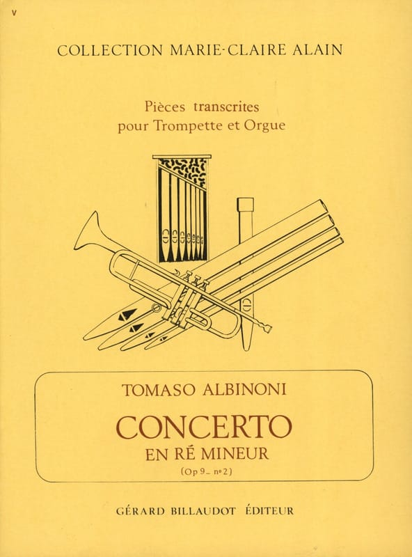 Tomaso Albinoni - Concerto En Ré Mineur Opus 9 N° 2 - Partition - di-arezzo.fr