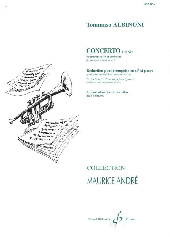 Tomaso Albinoni - Bb Concerto - Partition - di-arezzo.com
