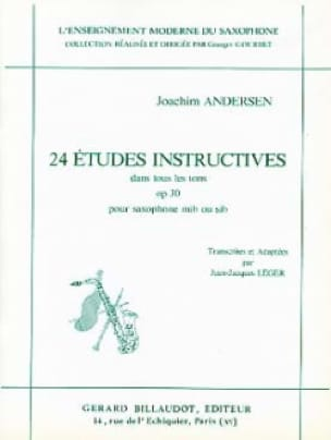 Joachim Andersen - 24 Studies Opus 30 - Instructive in All Tones - Partition - di-arezzo.co.uk