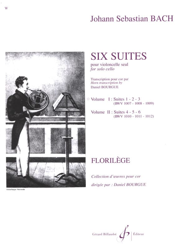 BACH - Six Suites Cello Volume 1 - Partition - di-arezzo.com