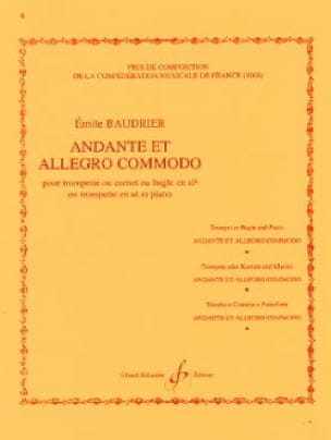 Emile Baudrier - Andante and allegro commodo - Partition - di-arezzo.co.uk