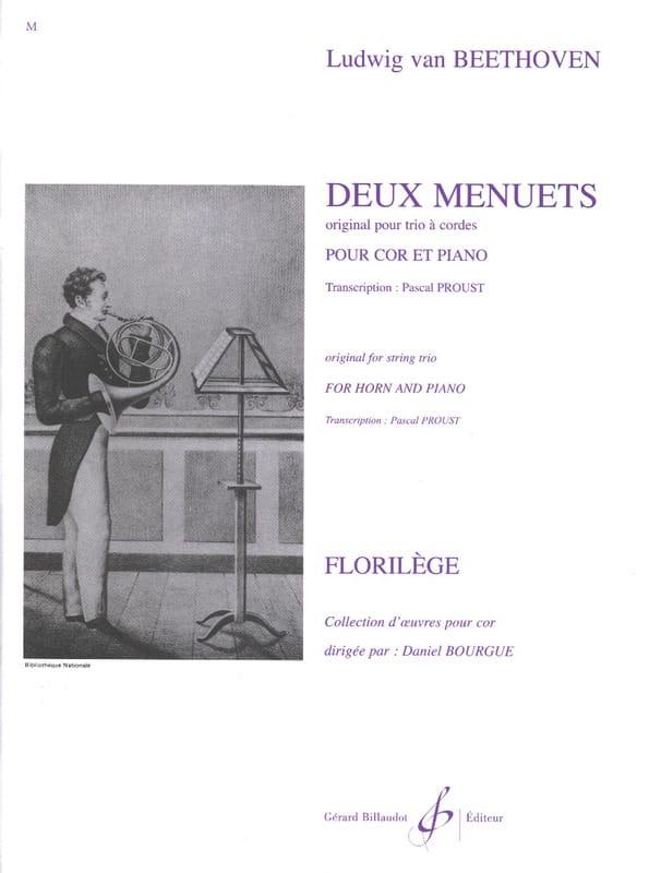 Deux Menuets - BEETHOVEN - Partition - Cor - laflutedepan.com