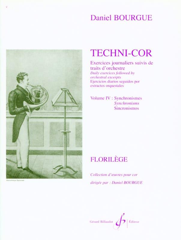 Daniel Bourgue - Techni-Cor Volumen 4 - Sincronismos - Partition - di-arezzo.es