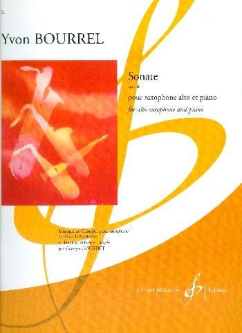 Sonate - Yvon Bourrel - Partition - Saxophone - laflutedepan.com