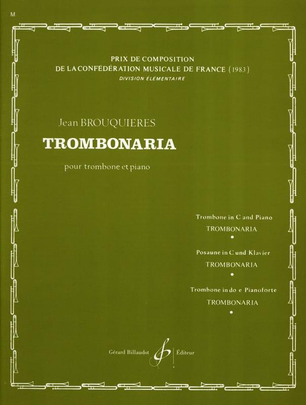 Trombonaria - Jean Brouquières - Partition - laflutedepan.com