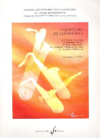 5 Quatuors de Saxophones - Partition - laflutedepan.com