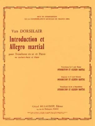 Dorsselaer Willy Van - Introduction And Allegro Martial - Partition - di-arezzo.com