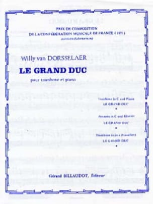 Dorsselaer Willy Van - The Grand Duke - Partition - di-arezzo.com