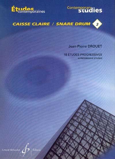 3 - 18 Etudes progressives - Jean-Pierre Drouet - laflutedepan.com