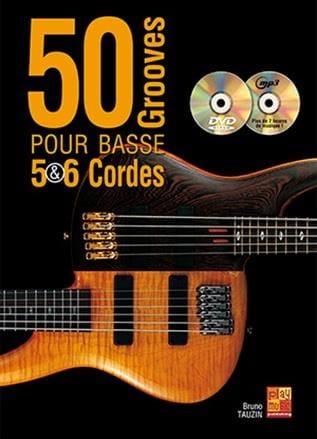 50 Grooves Pour Basse 5 & 6 Cordes - Bruno Tauzin - laflutedepan.com