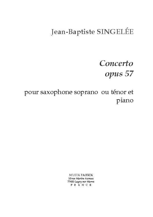 Concerto, Opus 57 - Jean-Baptiste Singelée - laflutedepan.com