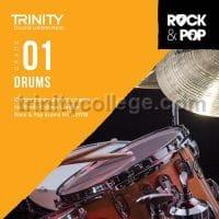 Trinity Rock and Pop 2018 -20 Drums Grade 1 (CD) - laflutedepan.com