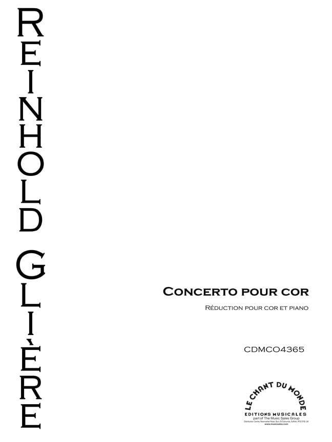 Reinhold Glière - Concerto for Horn, Opus 91 - Partition - di-arezzo.com