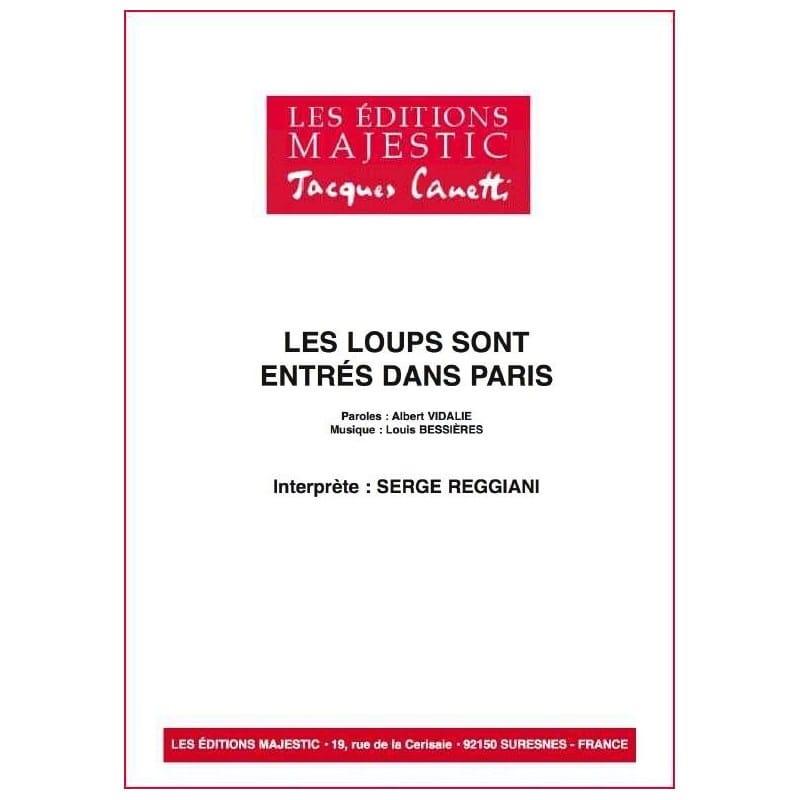 Serge Reggiani - Les Loups Sont Entrés Dans Paris - Partition - di-arezzo.fr