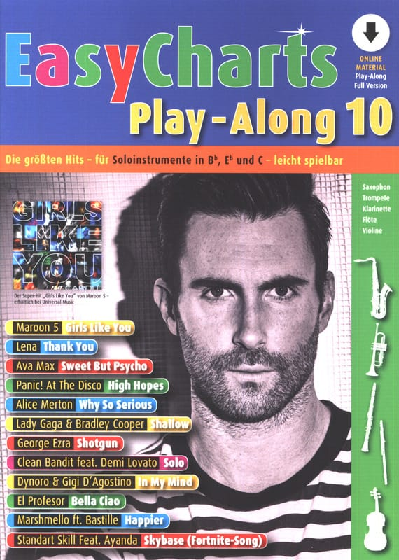 Easy Charts Play-Along - Volume 10 - Partition - laflutedepan.com