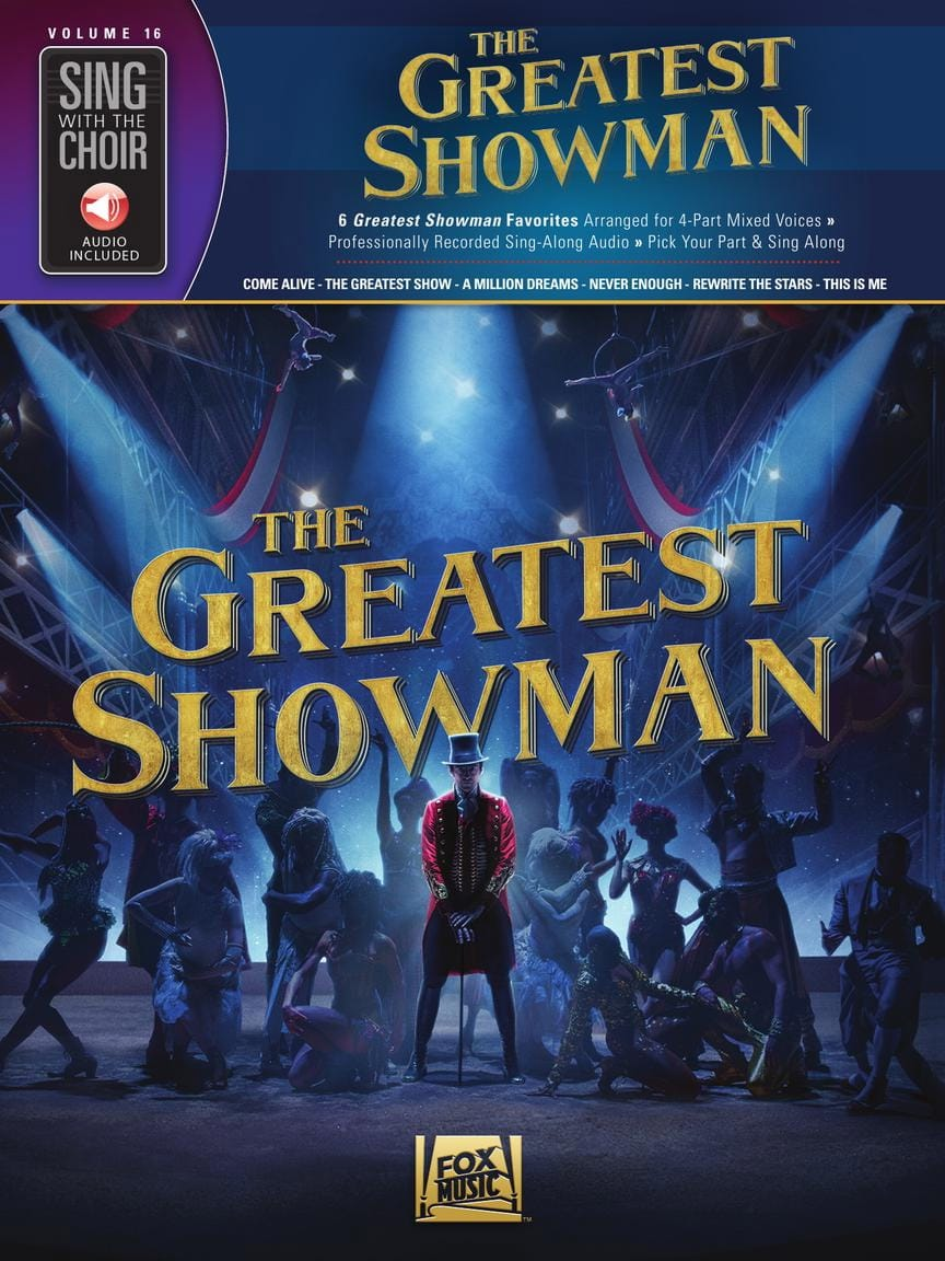 Sing with the Choir Volume 16 - The Greatest Showman - laflutedepan.com
