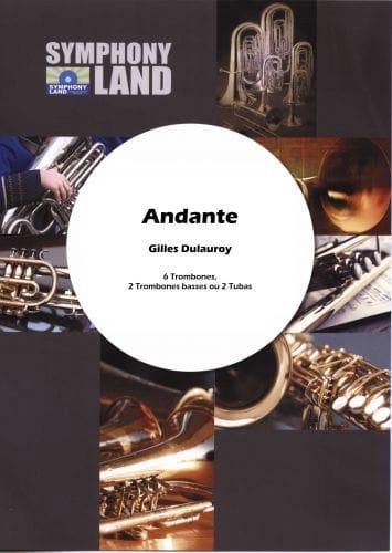 Andante - Gilles Dulauroy - Partition - Trombone - laflutedepan.com