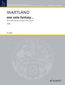 One note fantasy... - Steve Martland - Partition - laflutedepan.com