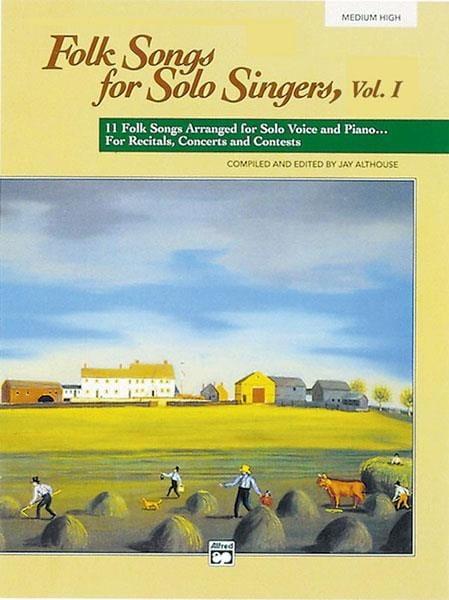 Folk Songs for Solo Singers - Volume 1 Medium High - laflutedepan.com
