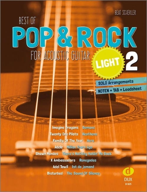Best of Pop & Rock for Acoustic Guitar light - Volume 2 - laflutedepan.com