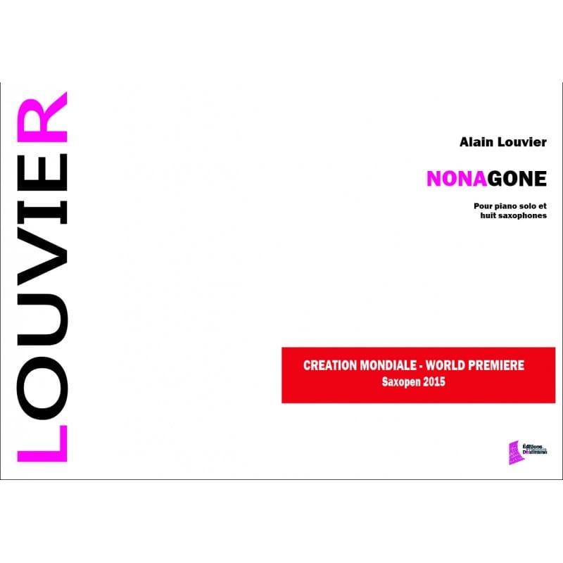 Nonagone - Alain Louvier - Partition - Saxophone - laflutedepan.com