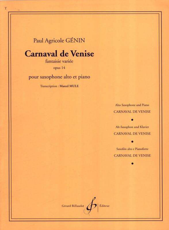 Paul Agricol Genin - Carnival of Venice Opus 14 - Partition - di-arezzo.co.uk