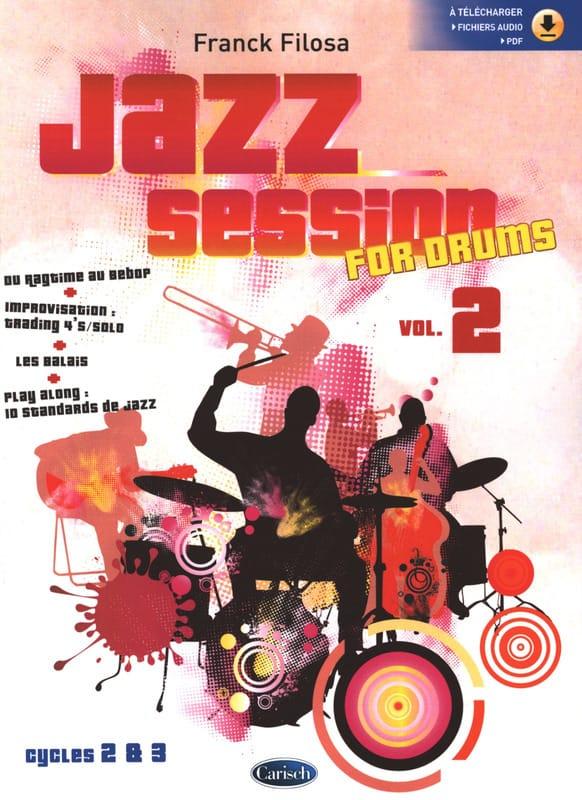 Jazz Session For Drums - Volume 2 - Franck Filosa - laflutedepan.com