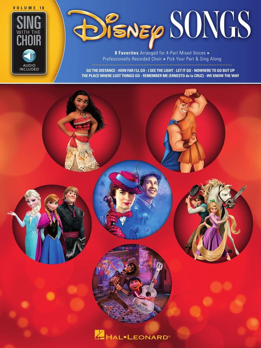 DISNEY - Sing with the Choir Volume 18 - Disney Songs - Partition - di-arezzo.co.uk