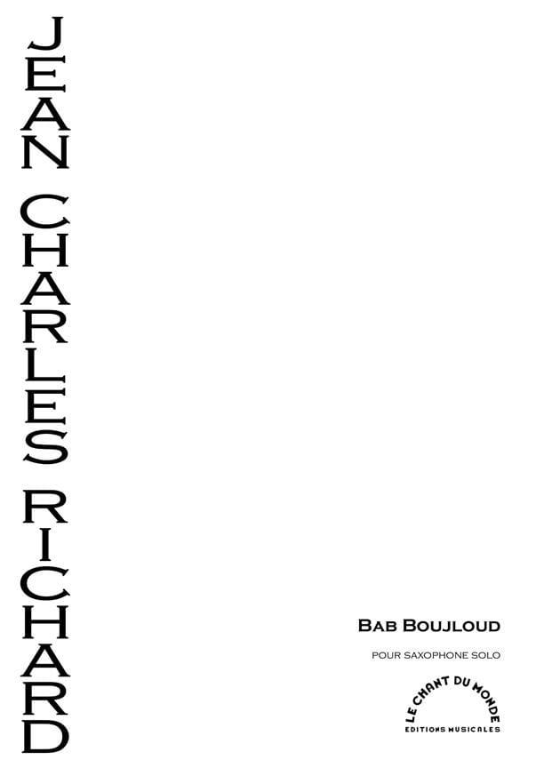 Bab Boujloud - Jean-Charles Richard - Partition - laflutedepan.com