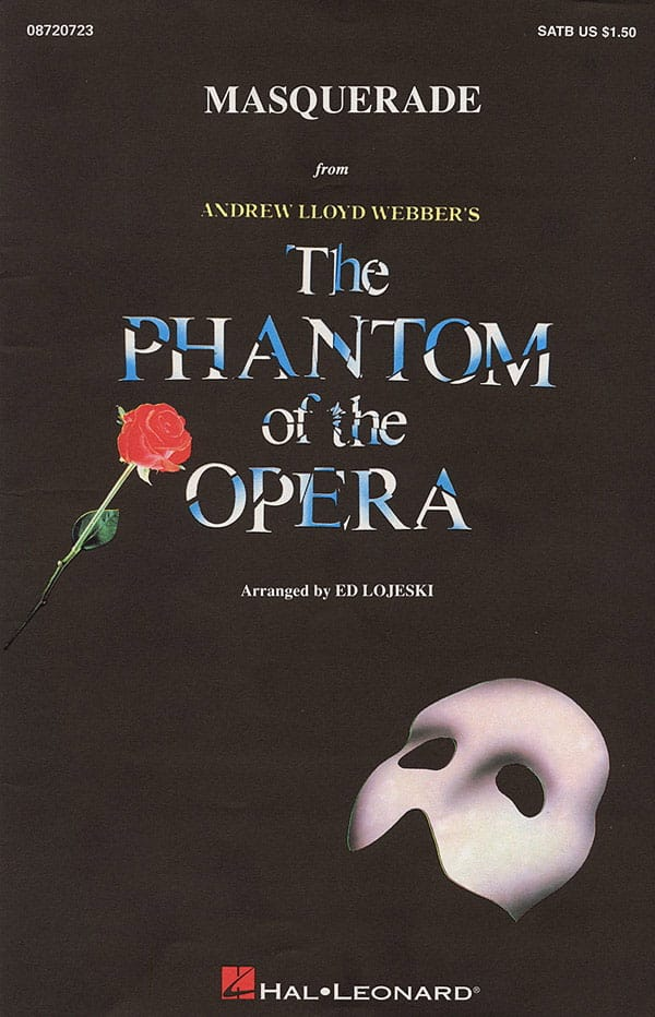 Andrew Lloyd Webber - Masquerade from The Phantom of the Opera - Partition - di-arezzo.co.uk