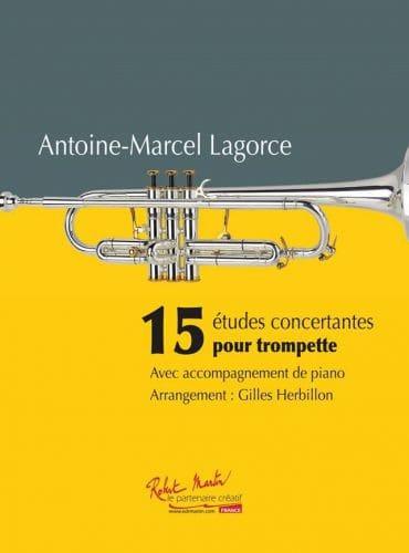 Antoine-Marcel Lagorce - 15 concert studies for Trumpet - Partition - di-arezzo.co.uk
