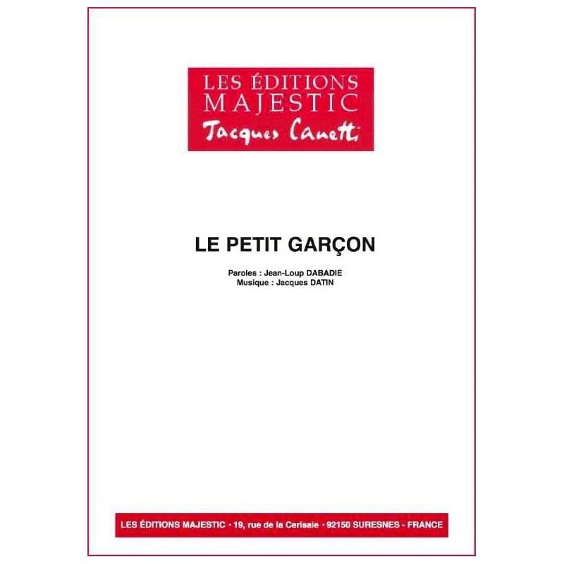 Serge Reggiani - Le Petit Garçon - Partition - di-arezzo.fr
