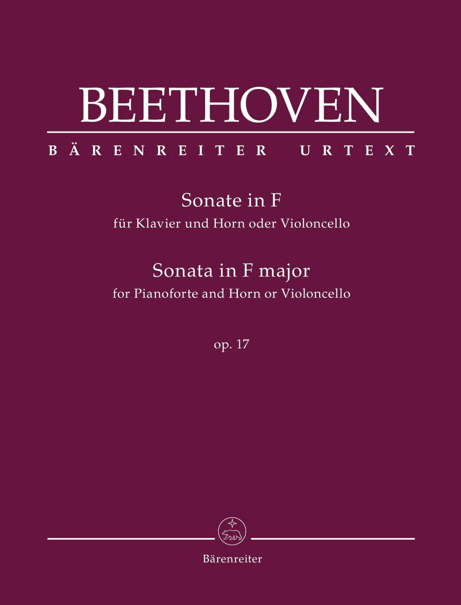 BEETHOVEN - Sonata for Horn and Piano in F Major Opus 17 - Partition - di-arezzo.com