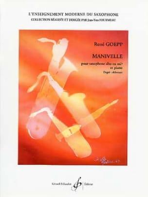Manivelle - René Goepp - Partition - Saxophone - laflutedepan.com