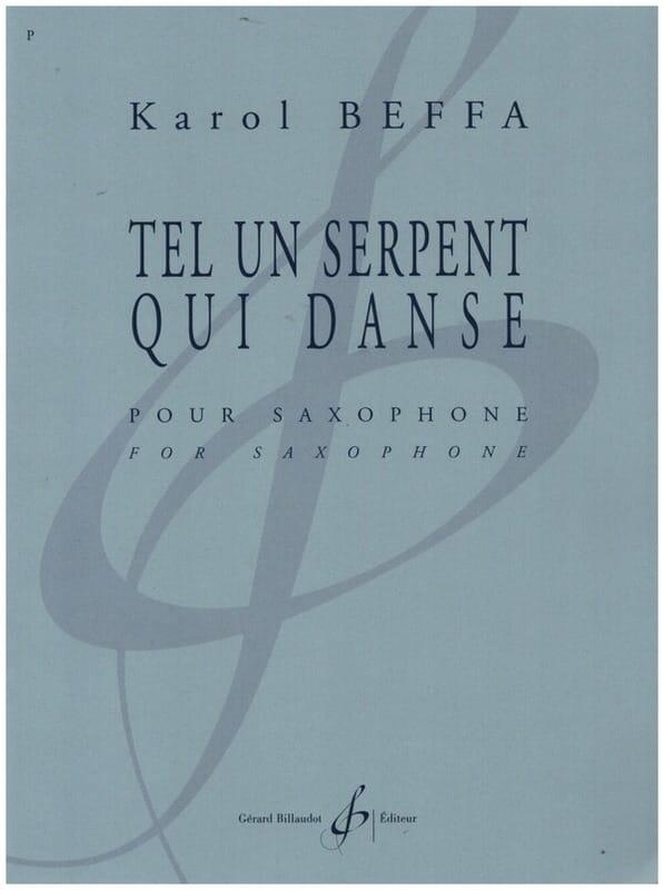 Karol Beffa - Like a dancing snake - Partition - di-arezzo.co.uk