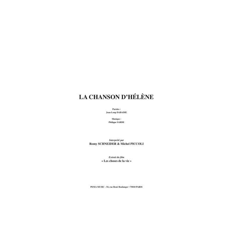 Philippe Sarde - Partition - di-arezzo.it