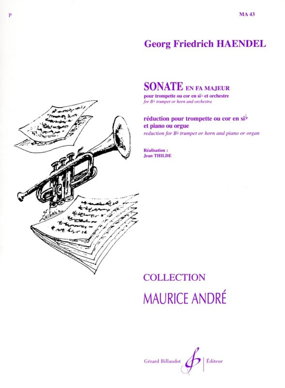 HAENDEL - Sonata In F - Partition - di-arezzo.com