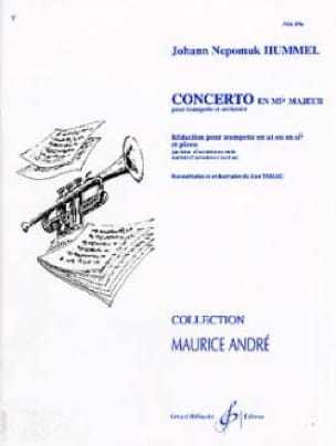 Concerto en Mib Majeur - HUMMEL - Partition - laflutedepan.com