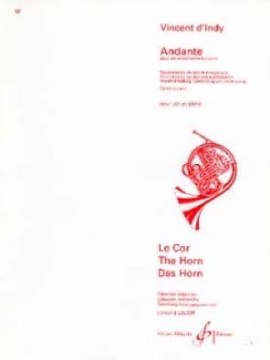 Andante - Vincent D' Indy - Partition - Cor - laflutedepan.com