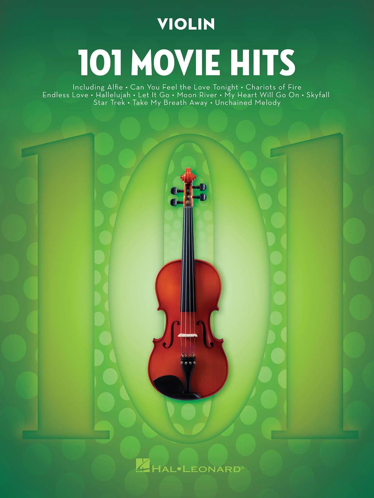101 Movie Hits For Violin - Partition - Violon - laflutedepan.com