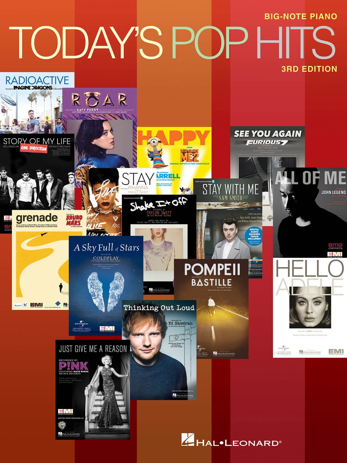 Today's Pop Hits - 3rd Edition Big Note Piano - laflutedepan.com