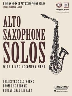Rubank Book of Alto Saxophone Solos - Intermediate Level - laflutedepan.com