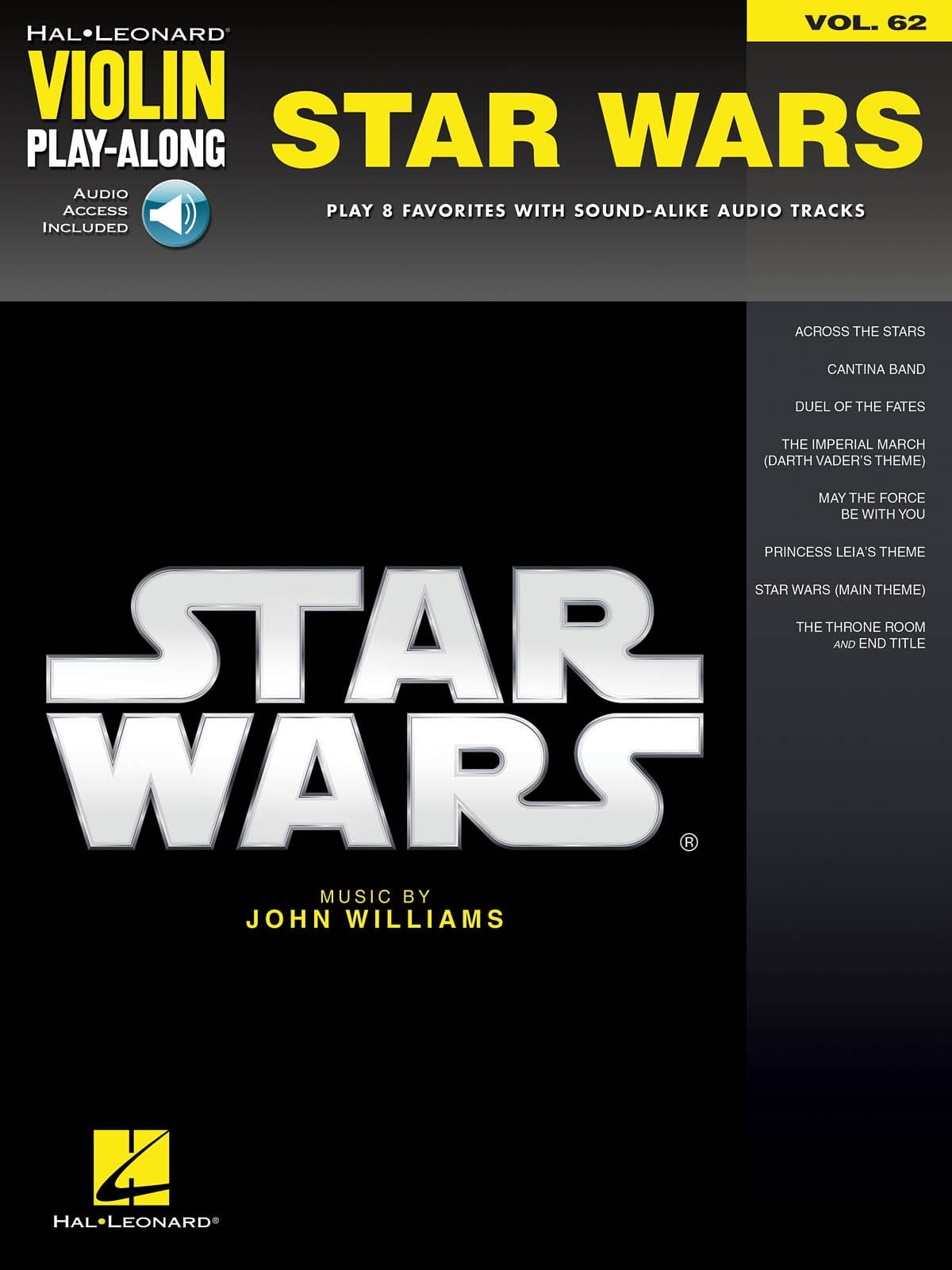 Violin Play-Along Volume 62 - Star Wars - laflutedepan.com